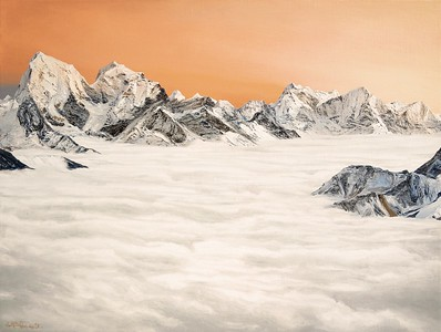 2019 -2- The Himalayas, rising over clouds