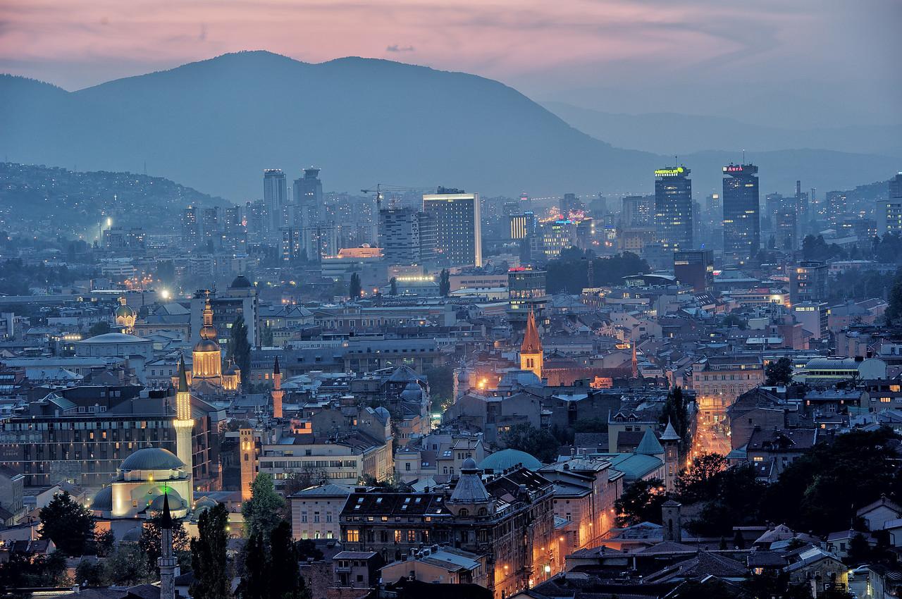 Sarajevo night view
