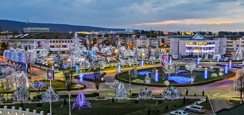 Mioveni City Centre Christmas Lights