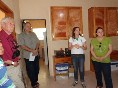 Participants received a tour of Amextra's microfinance office in Palenque town. Amextra's approach to helping poor residents of Chiapas emphasizes savings, microcredit, and training.