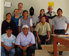 Program participants and Amextra staff stand in solidarity with the Zapatista representative who visited the Pej Pem center.