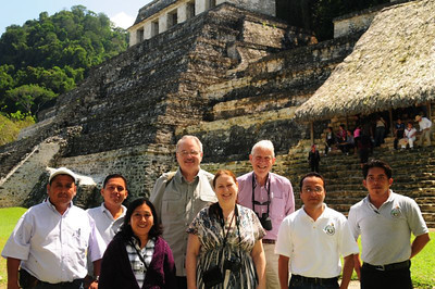 Program participants and Amextra staff enjoy a tour of ancient Mayan ruins just outside Palenque, Chiapas. UNESCO declared the Palenque ruins a World Heritage site in 1987. Read more about the archeology of this historic site here; see more photos of the site here.