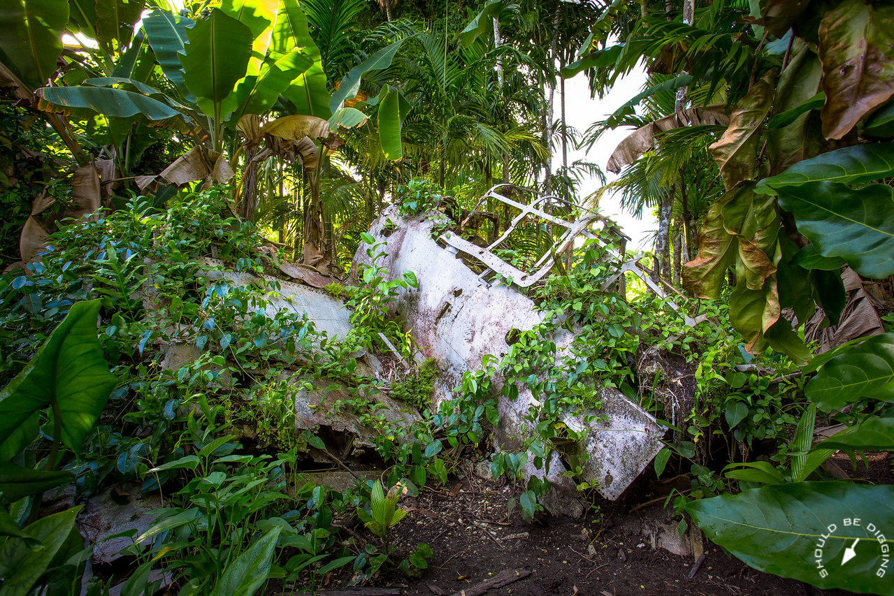 Wreckage of a Japanese Zero Aircraft