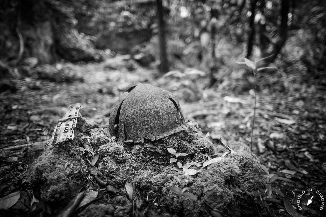 Abandoned Helmet on Bloody Nose Ridge