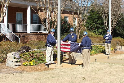 Folding of the worn flag