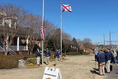 Raising of new flag