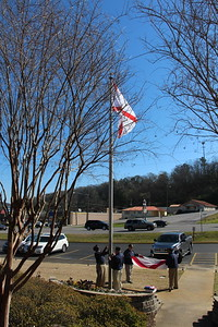 Raising of the new Alabama State Flag