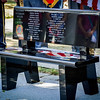 KIA (Killed In Action) memorial bench is revealed at the Pelham Old Home Day. SUN/Caley McGuane
