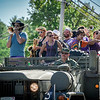 Music is played on military trucks during the Old Home Day parade in Pelham. SUN/Caley McGuane