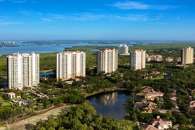 Pelican Landing High-rises Aerial