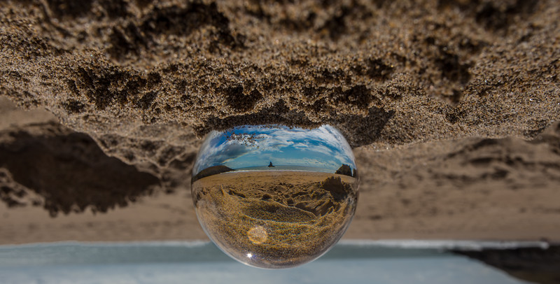 Beach in a Glass Ball