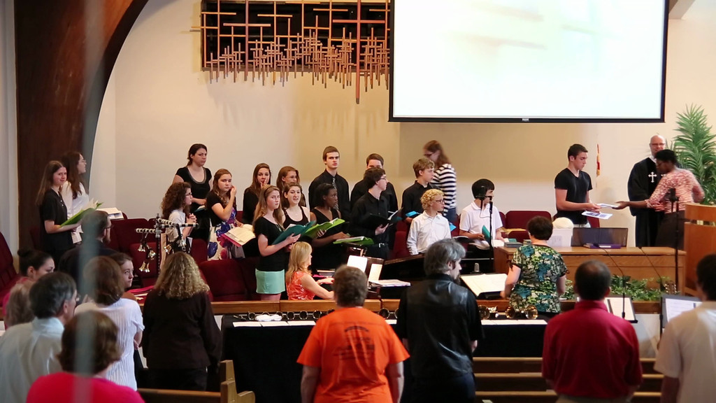 2013-06-16 PUMC Youth Choir - The Lord Bless You and Keep You