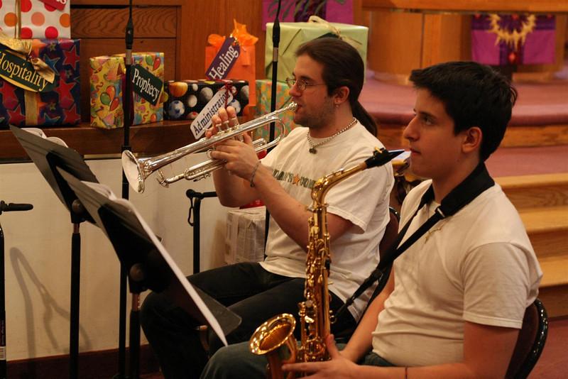 PUMC Wind Ensemble Rehearsal 2009-03-15 (10)