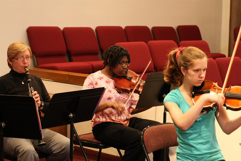 PUMC Wind Ensemble Rehearsal 2009-03-15 (8)
