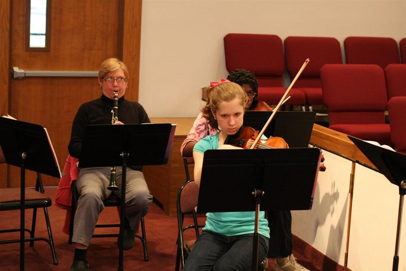 PUMC Wind Ensemble Rehearsal 2009-03-15 (5)