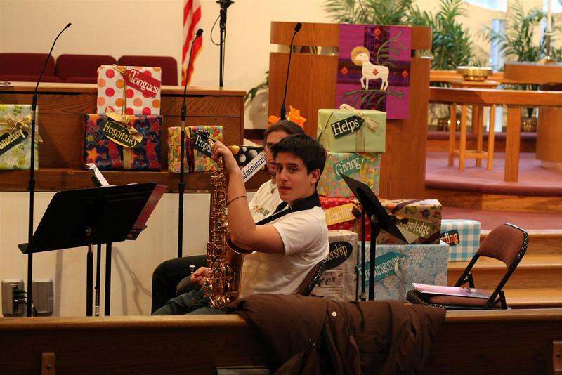 PUMC Wind Ensemble Rehearsal 2009-03-15 (4)