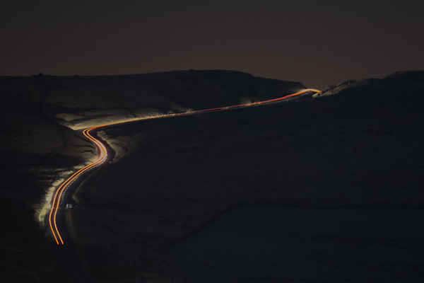Car trail on the Nick o' Pendle from White Hill above Sabden