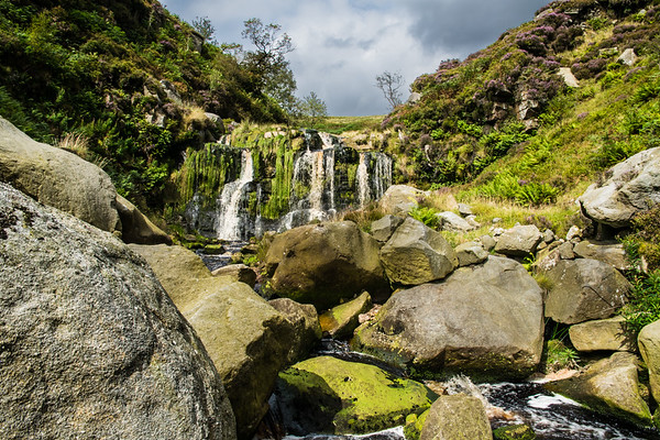 Quite a hike onto the moors from Dunsop Bridge in the Forest of Bowland; an area designated as of Outstanding Natural Beauty. Quite a difficult waterfall to get too...even harder to get out of, as I discovered.   But worth it