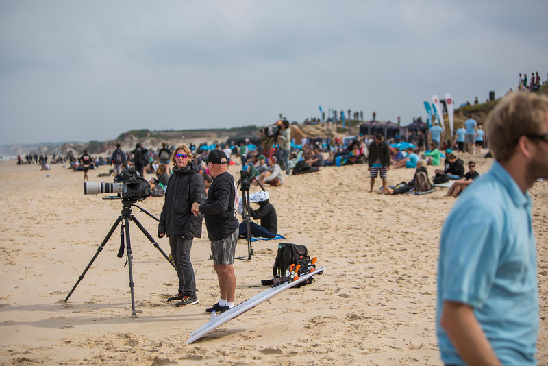 Heavy coverage of the World Surf League Pro Tour.