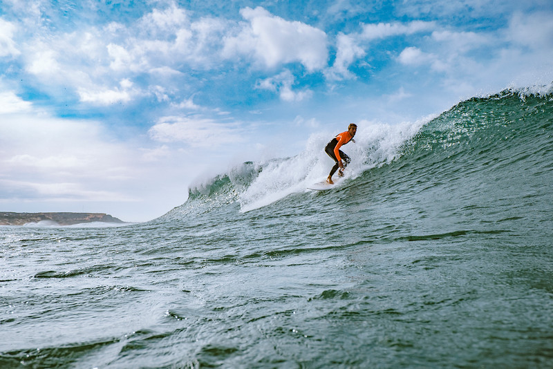 Young french surfer tearing things apart.