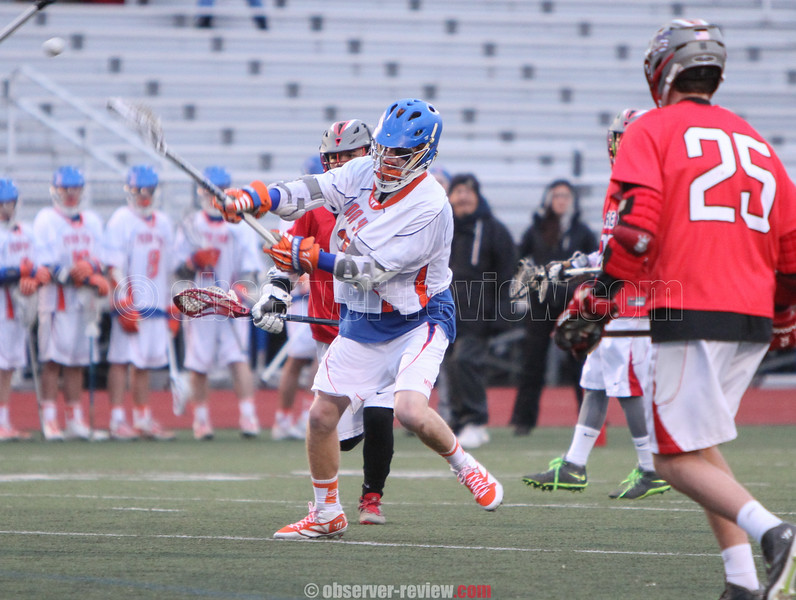 Action during the Penn Yan vs. Clarence boys lacrosse game, April 24, 2015.
