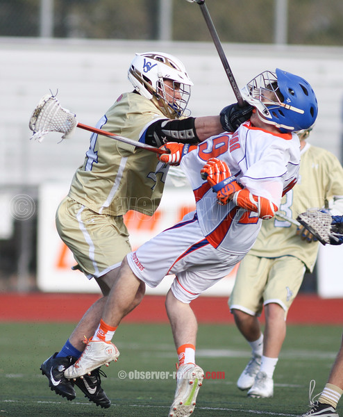 Action during the Penn Yan vs.  Webster-Schroeder boys lacrosse game, April 28, 2015.