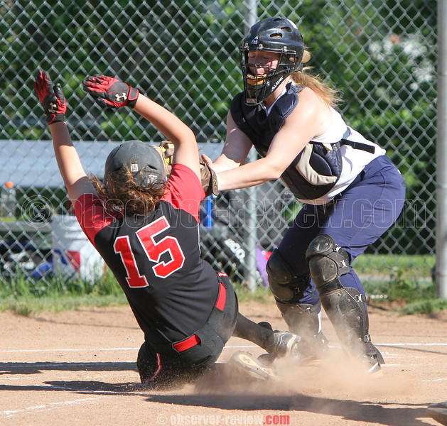 Action during the Penn Yan vs. Geneva softball game, May 14, 2015.