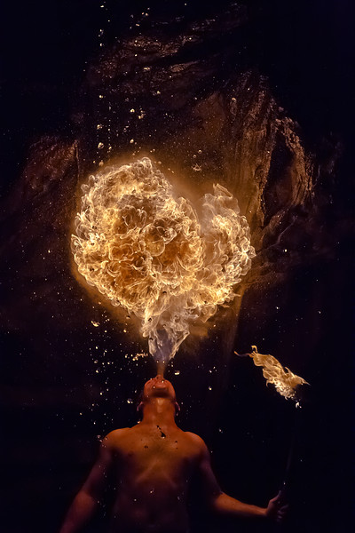 Aaron, Straub, fireball, fire, pennsic, war, frew, mill, pa, Pennsylvania, fire-performer; breath, breathing, rocks, rock, formation, waterfall,