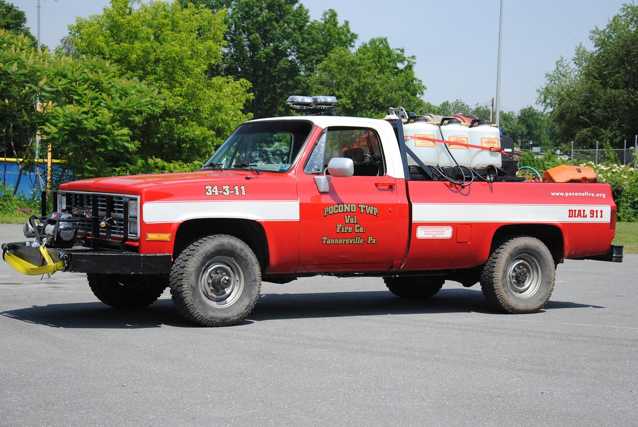 Pocono Twp Fire Company, Tannersville Brush 34-2