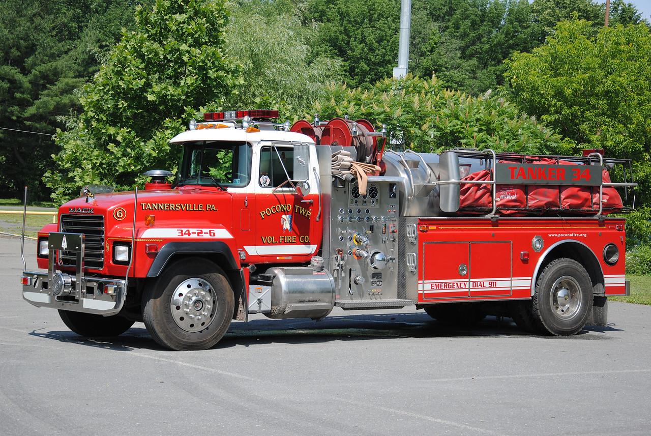 Pocono Twp Fire Company, Tannersville Tanker 34