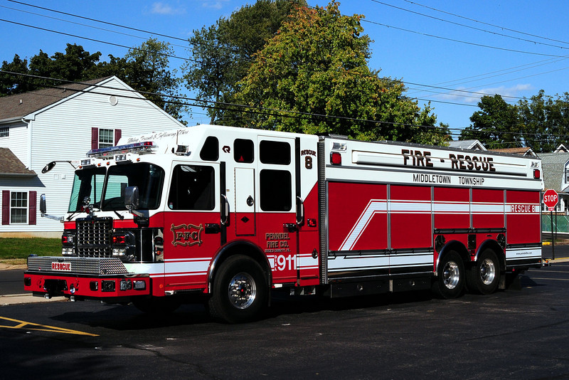 Penndel Fire  Co  Rescue 8   2010 Spartan /Rosenbauer /General Safety 1250/ 500/ 40