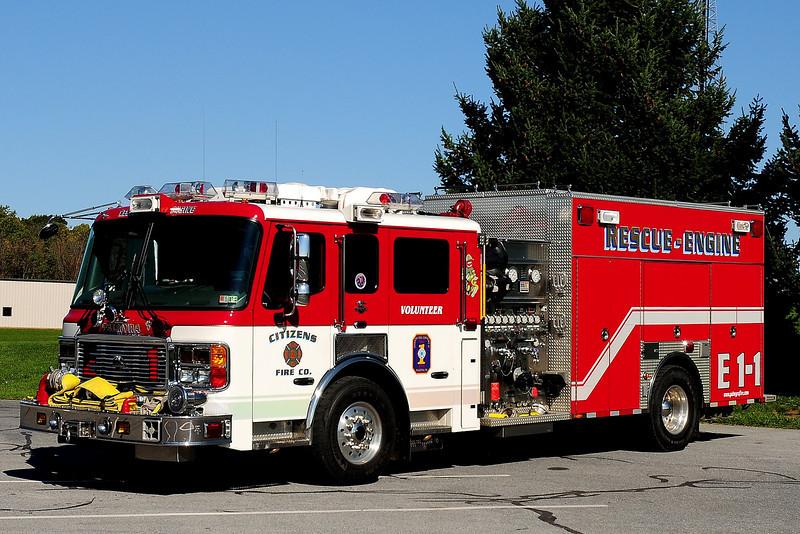 Citizens Fire Co   Engine 1-1  2006  American La France / R D Murray  2000 / 750