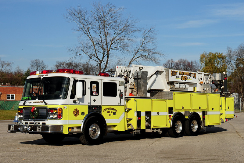 Fort Washington Fire Co  Tower 88  2001  American La France  / LTI  93ft