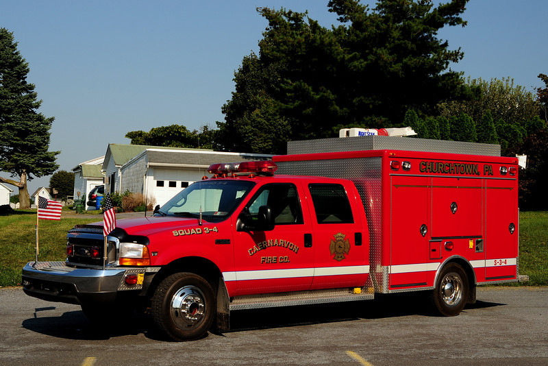 Caernavon Fire Co    Squad 34  1998 Ford F-550 / 3D Fire Body
