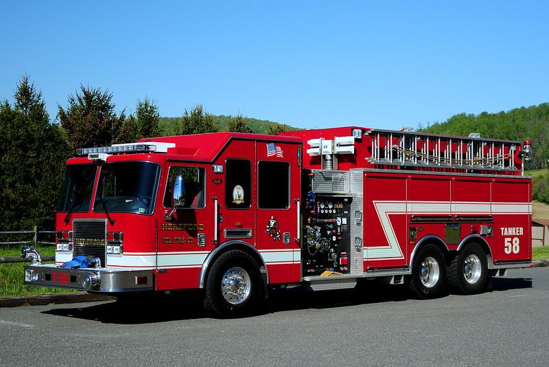 Herford Fire co  Tanker  58    2009 KME Predstor  1500/ 2700 / 40  Class A  Foam