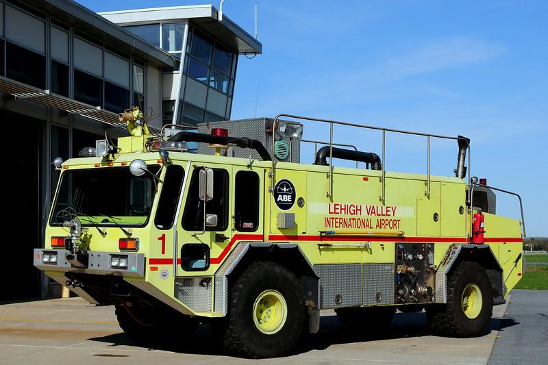 Lehigh Valley International Airport  Rescue  1   1988  Emergency-One  Titan  1250/ 1500/ 125 Foam