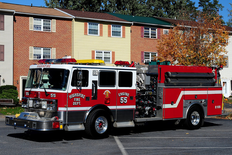 Highspire Fire Co  Engine  55   19992  Penfab  Emergency-One  / 1997  New Lexington  1500 / 1000 / 250 Class B  foam