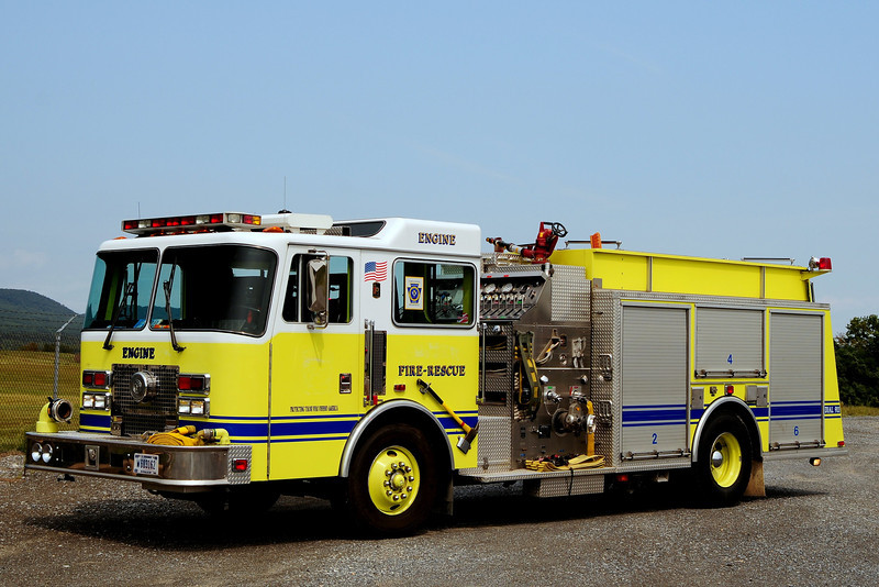 US Gov    US Army Fort  Indaintown Gap   Engine 75-1  1994  KME 1500/ 750  Ex- New Cumberland Army Depot