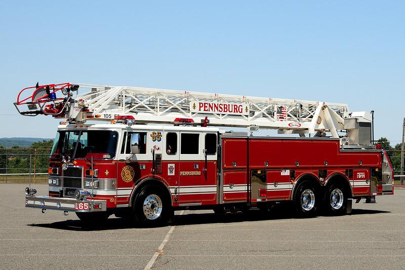 Pennsburg Fire Co   Ladder 65  1992 Pierce Lance  105 ft ex-Abbington Fire Co