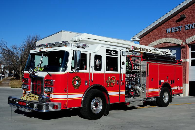 West  End  Fire  Co   Quakertown,  Squirt 18   2004  Pierce  Dash  2000/ 750/  30 Class A   54 Ft  boom