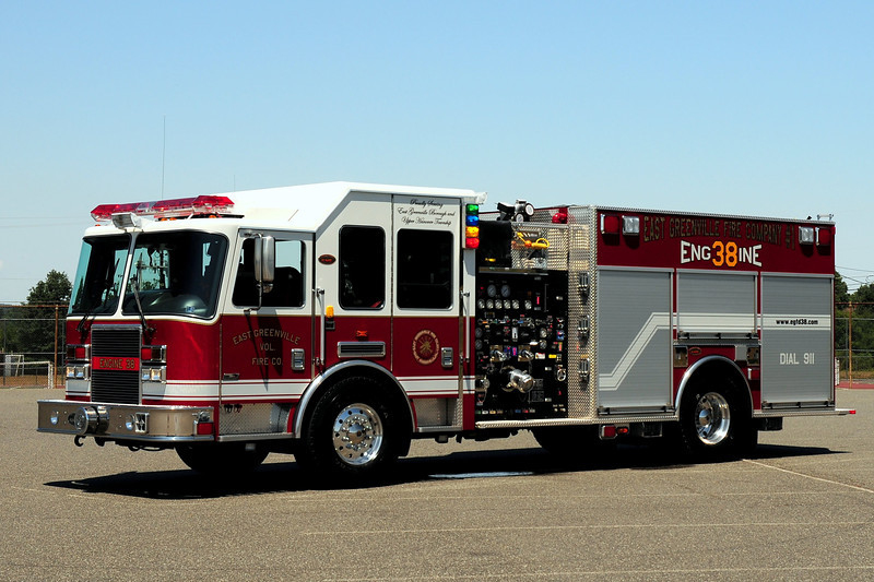 East Greenville Fire Dept    Engine  38   2007 KME Predator  2000/  750 GPM, 210 CFM CAFSPRO Foam System /1000