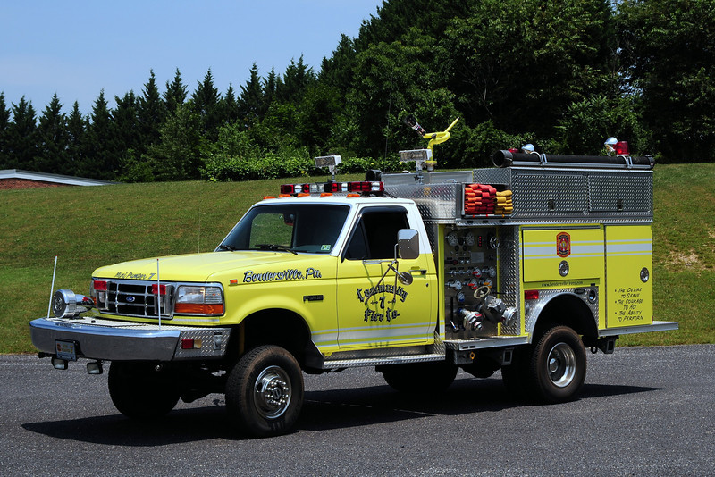 Community Fire  Co  of  Bendersville  Pa   Mini Pumper 7  1992  Ford F- 350 / Emergency-One  450/  250