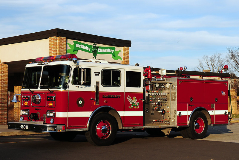 McKinley Fire Co   Squad  200  1990  Seagrave  1250/ 500  Ex- Glenolden ,Pa
