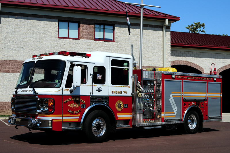 Upper Darby Fire dept   Engine 74-1  2000 American La France  1500/ 750