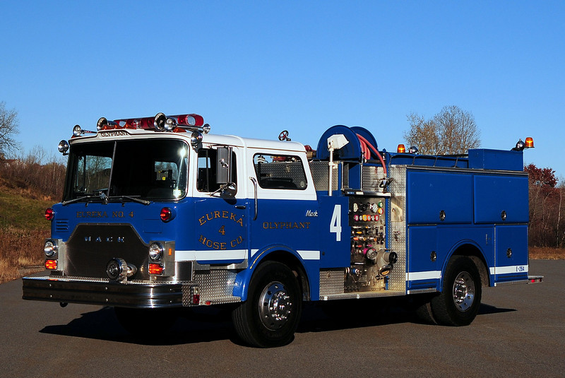 Olyphant  Eureka Hose Co # 4   1986 Mack CF/ LTI   1250/ 500