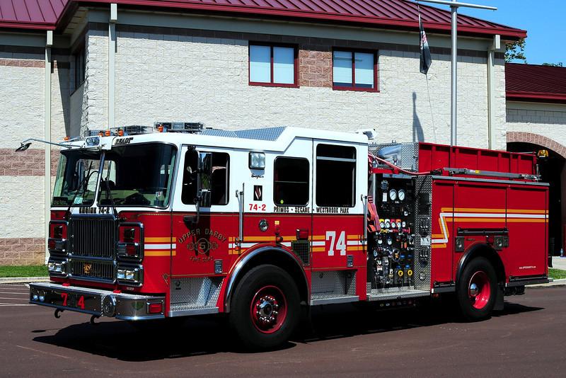 Upper Darby Fire Dept  Engine 74-2  2007 Seavrave 1500/ 750/ 20 Class  A / 40 Class B