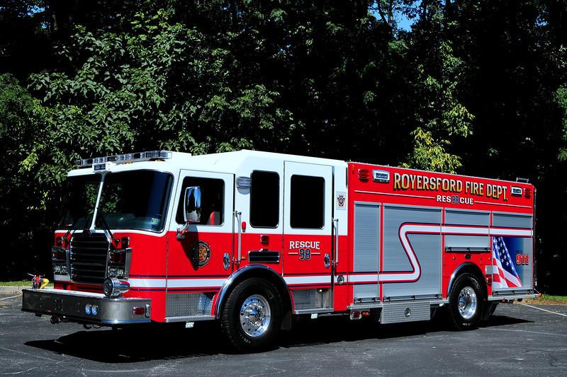 Royersford Fire Dept  Humane Fire Co  Rescue  98   2011 KME Predator  1500/ 500