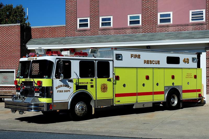 Hershey Fire Co  Rescue  48  1991  Spartan / Swab