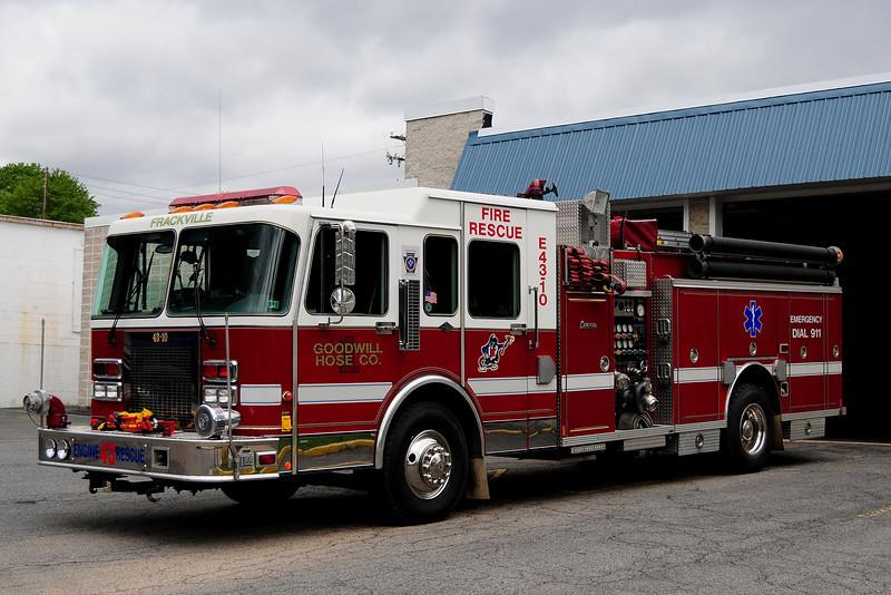 Frackville, PA Engine 4310    1994 Spartan/ Central States 1500/500/30/12