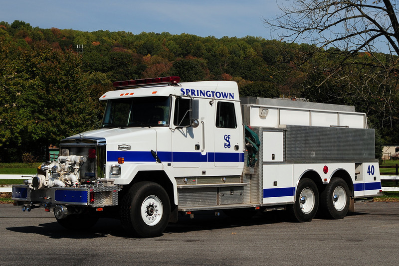 Springtown Fire Co Tanker  40  1990  GMC AUTOCAR/ KME 1500/ 2500